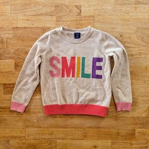 5T babyGap SMILE sweater